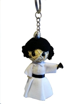 Princess Leia String Doll Keyring