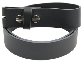 Leather Press Stud Buckle Belt