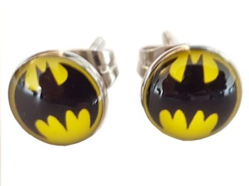 Surgical Steel Batman Ear Studs