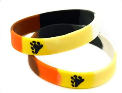 Bear Pride Silicon Rubber Wristband
