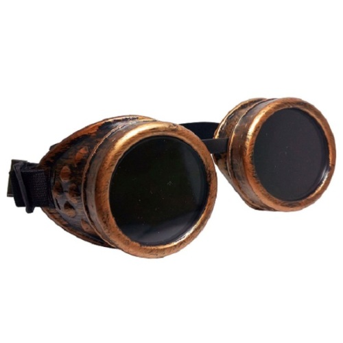 Vintage Steampunk Goggles - Antique Red Bronze