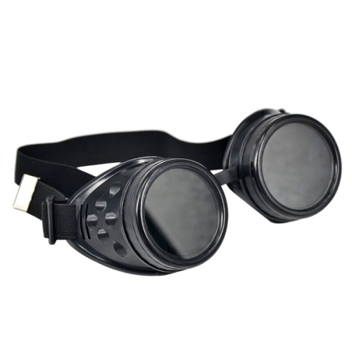 Vintage Steampunk Goggles - Black