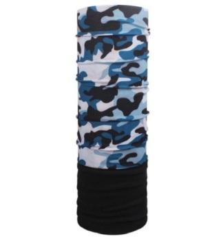 Blue Camouflage Fleece Multifunctional