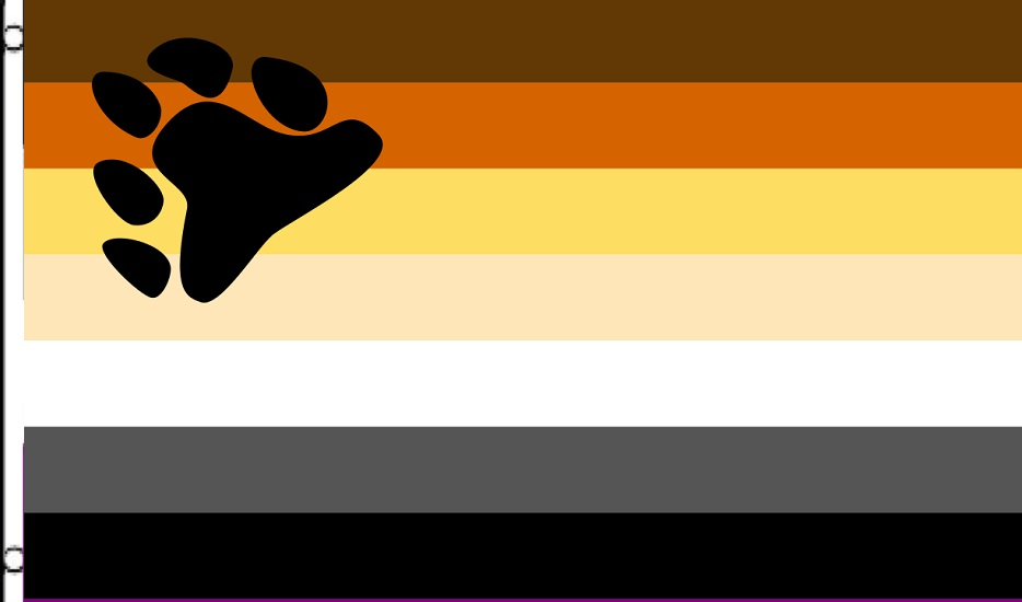 Large 5ft x 3ft Bear Pride Flag