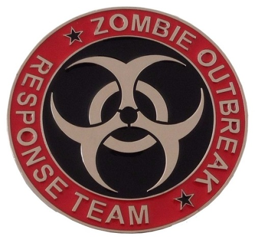 Zombie Outbreak Response Team Belt Buckle