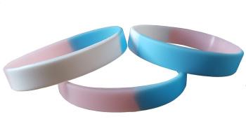 Transgender Pride Silicon Rubber Wristband