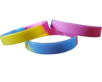 Pansexual Pride Silicon Rubber Wristband
