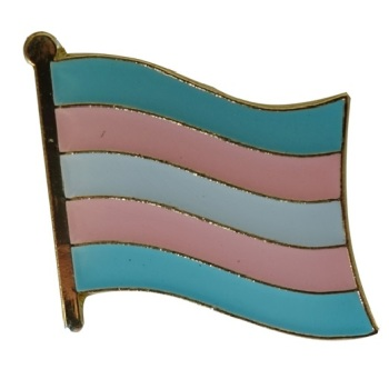 Transgender Flag Lapel Pin Badge