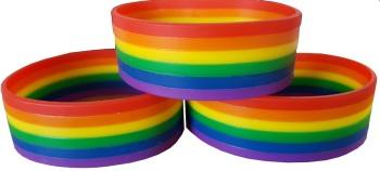 Rainbow Silicon Rubber Wristband