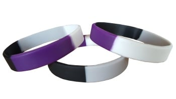 Asexual Pride Silicon Rubber Wristband