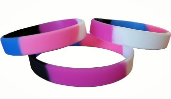 Gender Fluid  Silicon Rubber Wristband