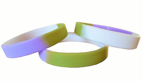 Gender Queer  Silicon Rubber Wristband