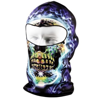 Blue Electric Skull Balaclava