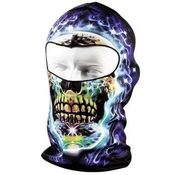 Blue Electric Skull Balaclava