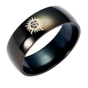 Supernatural Inspired Titanium Anodised Ring