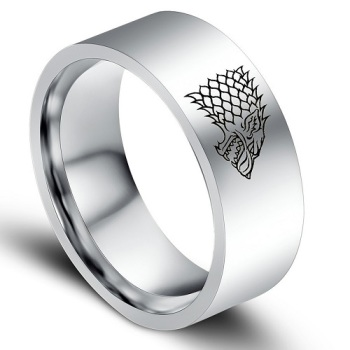 Surgical Steel Games of Thrones - Stark - Ring