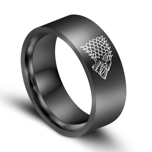 Anodised Titanium Games of Thrones - Stark - Ring