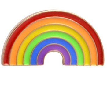 Rainbow Arch Lapel Pin Badge