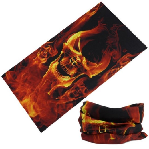 Flaming Skull Multifunctional