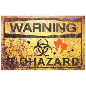 Biohazard Metal Sign