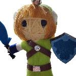 Link String Doll Keyring