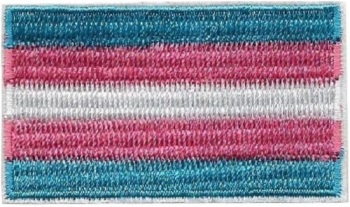 Transgender Pride Flag Iron On Patch