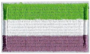 Genderqueer Pride Flag Iron On Patch