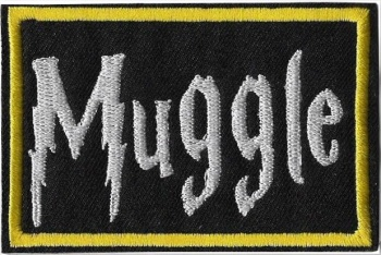 "Harry Potter ""Muggle"" Iron On Patch"