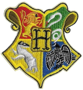 Harry Potter Hogwarts Crest Iron On Patch