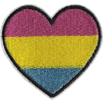 Pansexual Pride Heart Iron On Patch