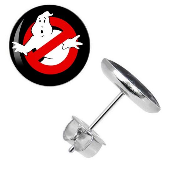 Surgical Steel Ghostbusters Ear Studs
