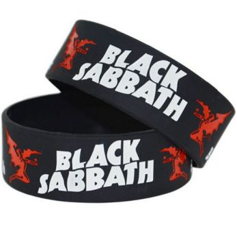 Black Sabbath Silicon Rubber Wristband