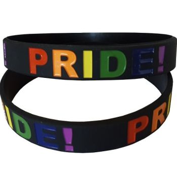 Debossed Rainbow PRIDE Silicon Rubber Wristband
