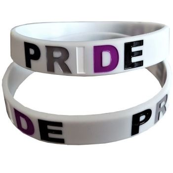 Debossed Asexual RIDE Silicon Rubber Wristband