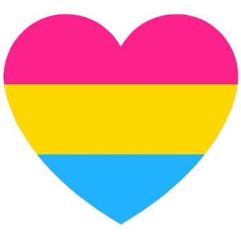 Pansexual Heart Reflective Vinyl Sticker