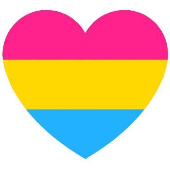 Pansexual Heart Reflective Vinyl Sticker