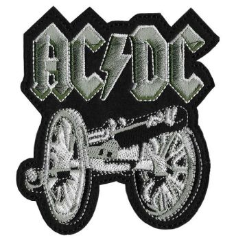 AC/DC Cannon Iron On Embroidered Patch