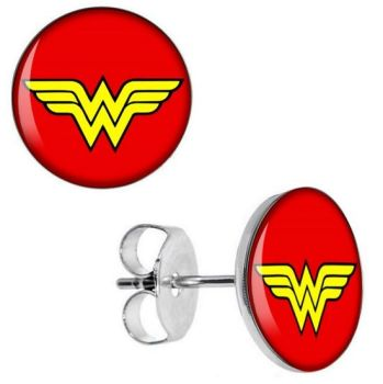Surgical Steel Wonder Woman Ear Studs