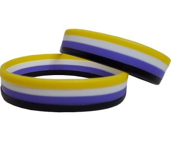 Non Binary Silicon Rubber Wristband
