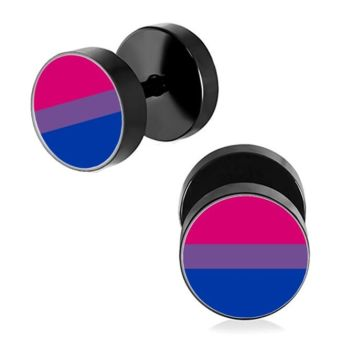 Anodised Titanium 10mm Bisexual Imitation Stretched Ear Plugs