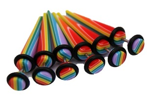Rainbow Fake Taper/Stretcher