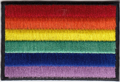 Rainbow Flag Embroidered Iron-on Patch