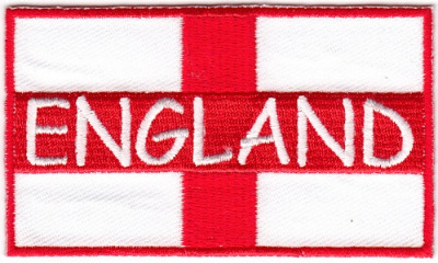 St George - England Flag - Embroidered Iron-on Patch