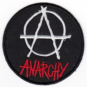 Anarchy Embroidered Iron-on Patch