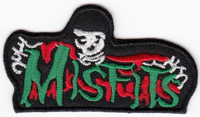 The Misfits Skeleton Embroidered Iron-on Patch