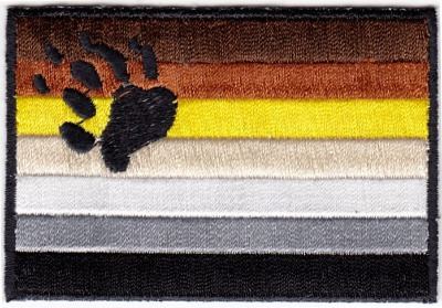Bear Pride Flag Iron On Patch