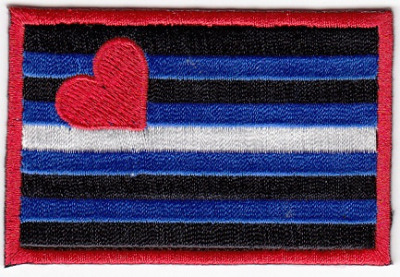Leather Pride Flag Iron On Patch
