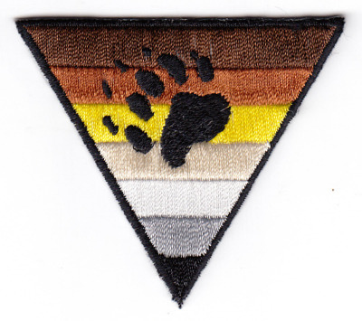 Bear Pride Triangle Iron On Patch