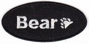 Bear Paw Oval Iron On Patch