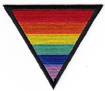Rainbow Triangle Embroidered Iron-on Patch